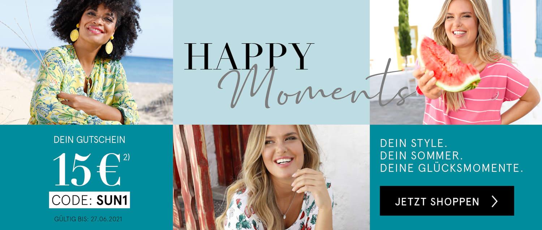 Happy moments   Dein 15€ Gutschein mit dem Code SUN1