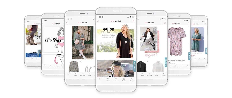 Téléchargez dès maintenant l'application mobile MIAMODA Big Sizes