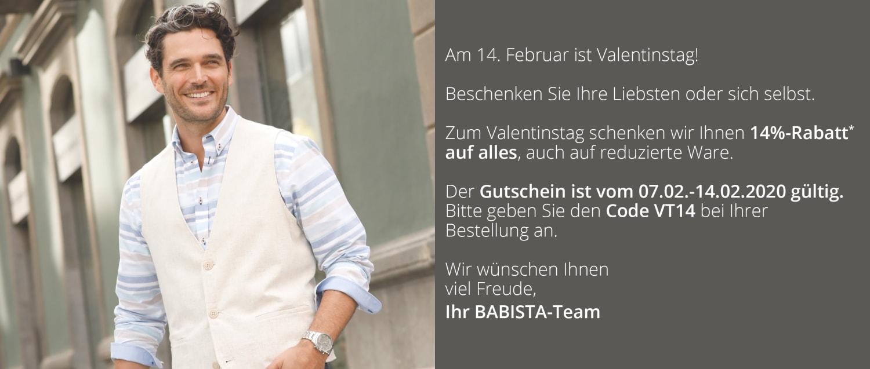 14% Rabatt zum Valentinstag mit dem Code: VT14