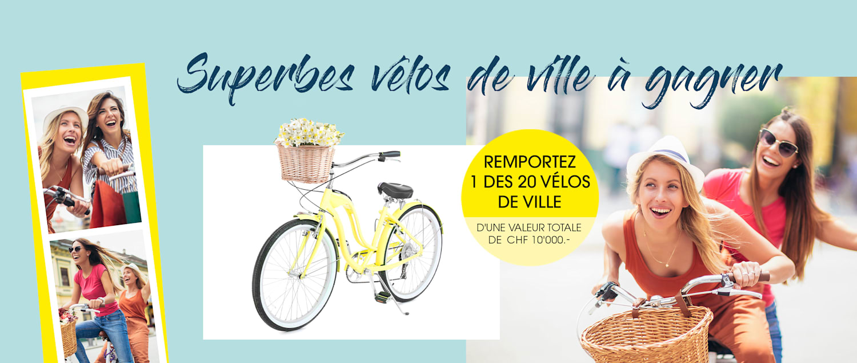 MIAMODA grandes tailles Gagnez 1 des 20 vélos de ville d'une valeur totale de 10.000 CHF