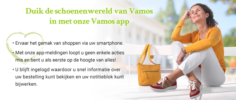 Duik de schoenenwereld van Vamos in met onze Vamos app