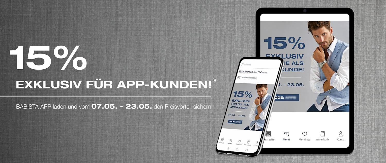 Exklusiv für App-Kunden³: BABISTA App laden und vom 07.05. - 23.05. den Preisvorteil sichern