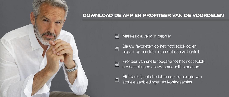DOWNLOAD DE APP EN PROFITEER VAN DE VOORDELEN