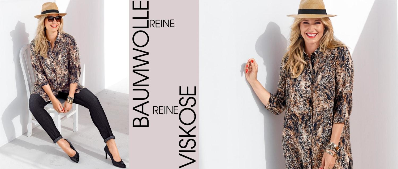 MIAMODA Große Größen Mode Reine Baumwolle und Reine Viskose