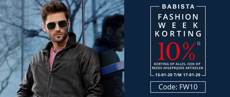 BABISTA FASHION WEEK KORTING - Code: FW10