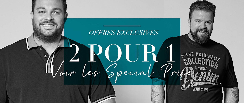 Offres exclusives 2 pour 1