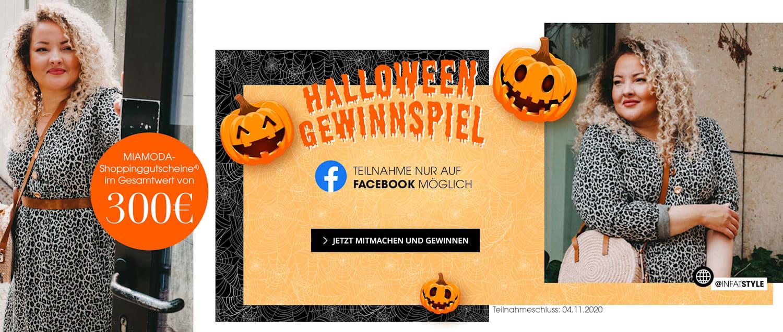 MIAMODA Große Größen Halloween Gewinnspiel - Gutscheine im Wert von 300€