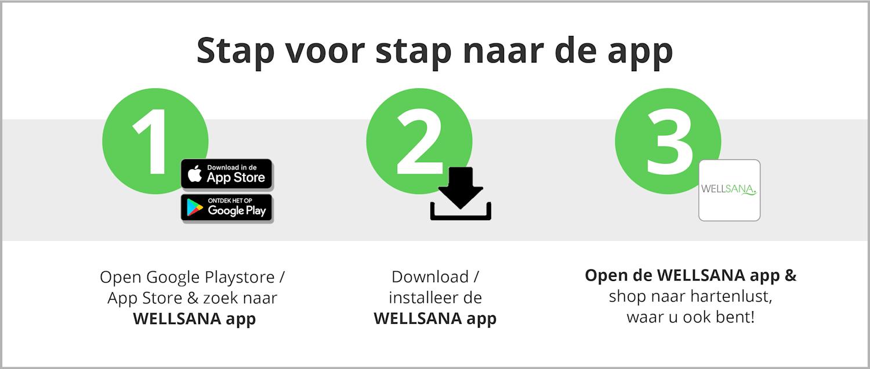 Installeer de Wellsana App