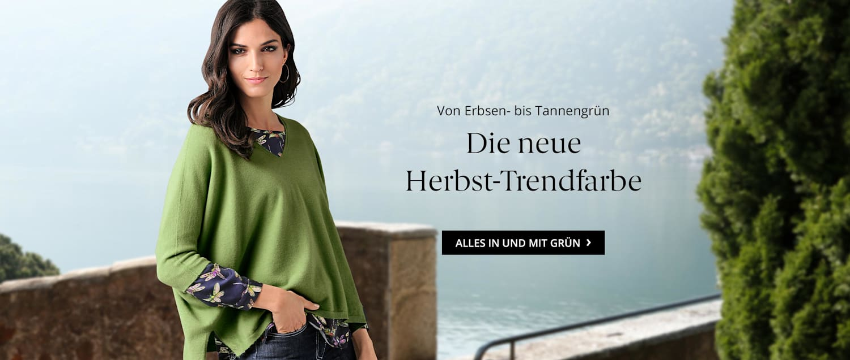Die neue Herbst-Trendfarbe Grün
