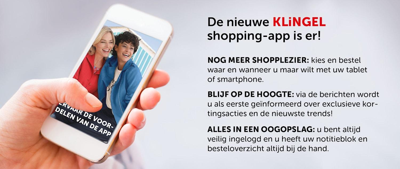 De nieuwe KLiNGEL shopping-app is er - informatie