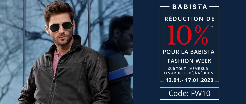 RÉDUCTION DE 10% POUR LA BABISTA FASHION WEEK - Code: FW10
