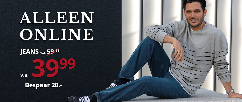 Alleen online: Jeans v.a. € 39.99 - Bespaar 20.-