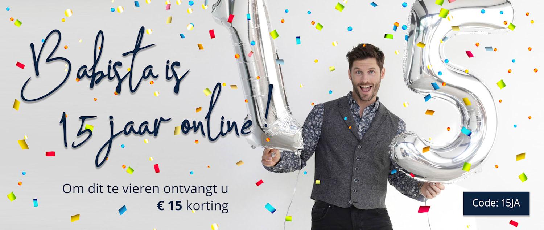 15€ korting* -  Code: 15JA