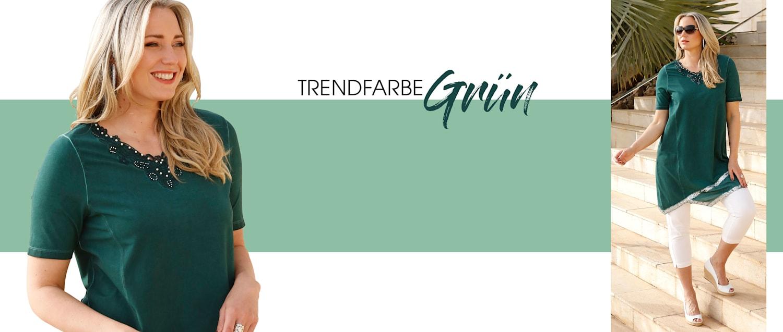 MIAMODA Große Größen Trendfarbe Grün