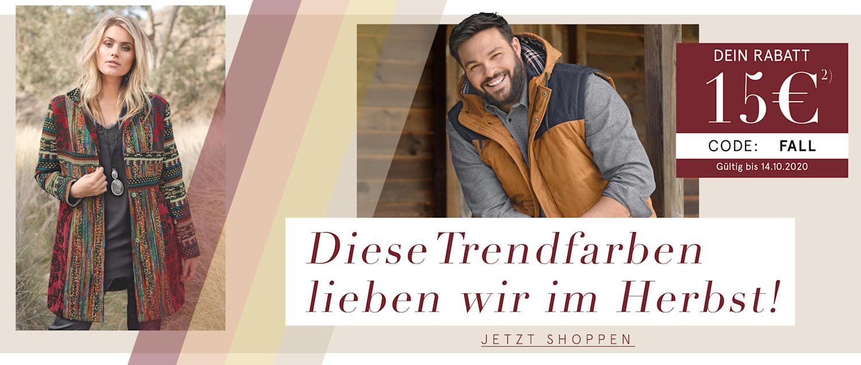 Herbst 15€ Gutschein Code FALL