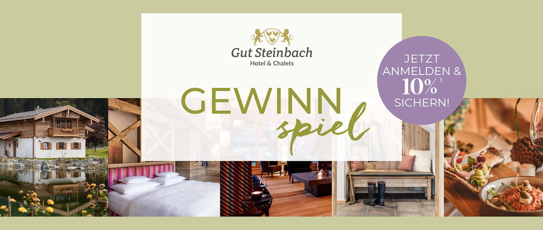 Gewinnspiel Gut Steinbach Hotel & Charlets
