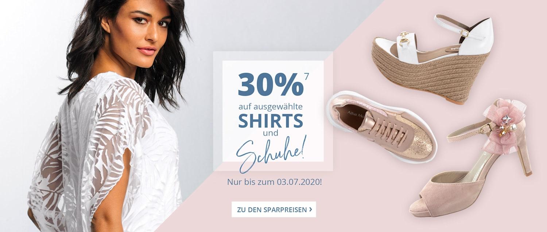 30 Prozent auf Shirts und Schuhe