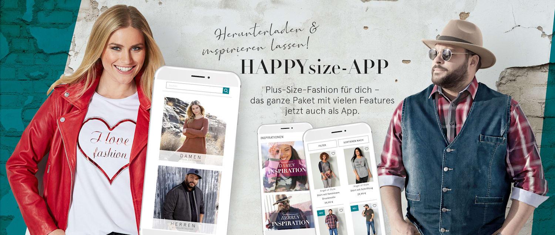 HAPPYsize APP herunterladen & inspirieren lassen