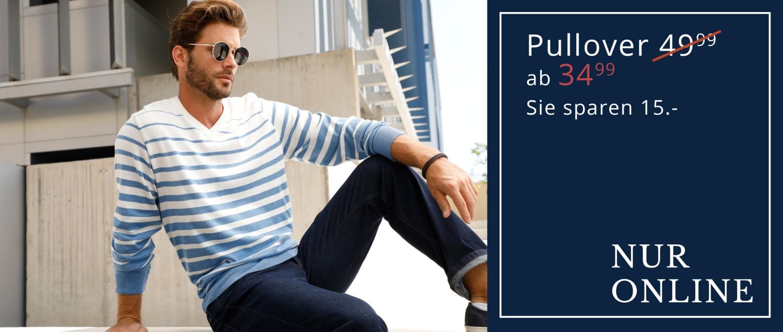 Nur Online: Pullover, Sie sparen 15 €