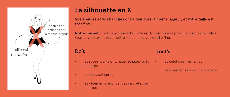 La silhouette en X