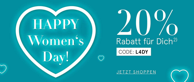 Happy Women's Day! 20% Rabatt für dich mit dem Code L4DY