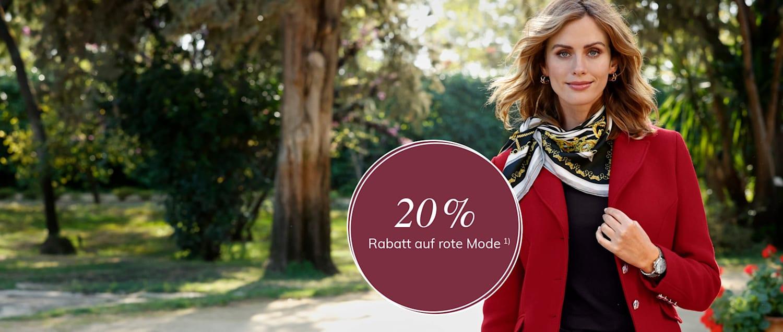 20% auf Rote Mode
