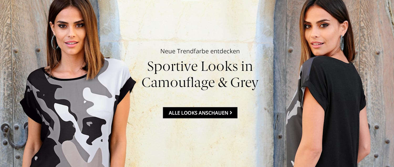 Sportive Looks in Camouflage & Grey