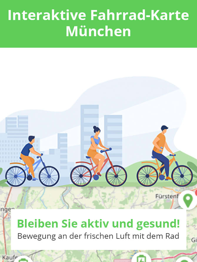 Die besten Fahrradtouren rund um München planen mit WELLSANA