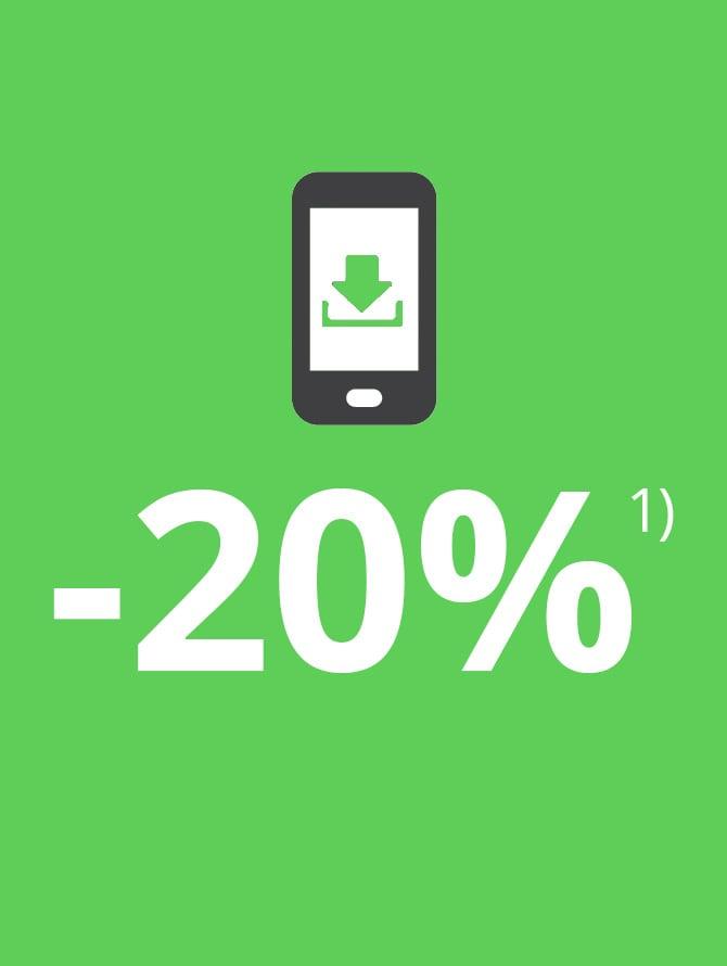 20% op ALLES – slechts voor korte tijd in onze WELLSANA app!