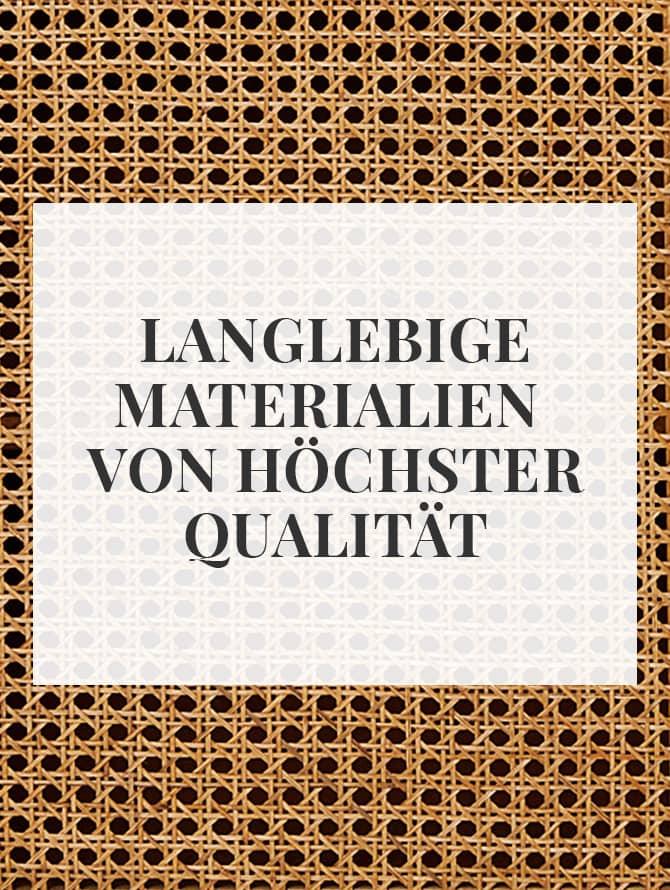 Langlebige Materialien von hoher Qualität