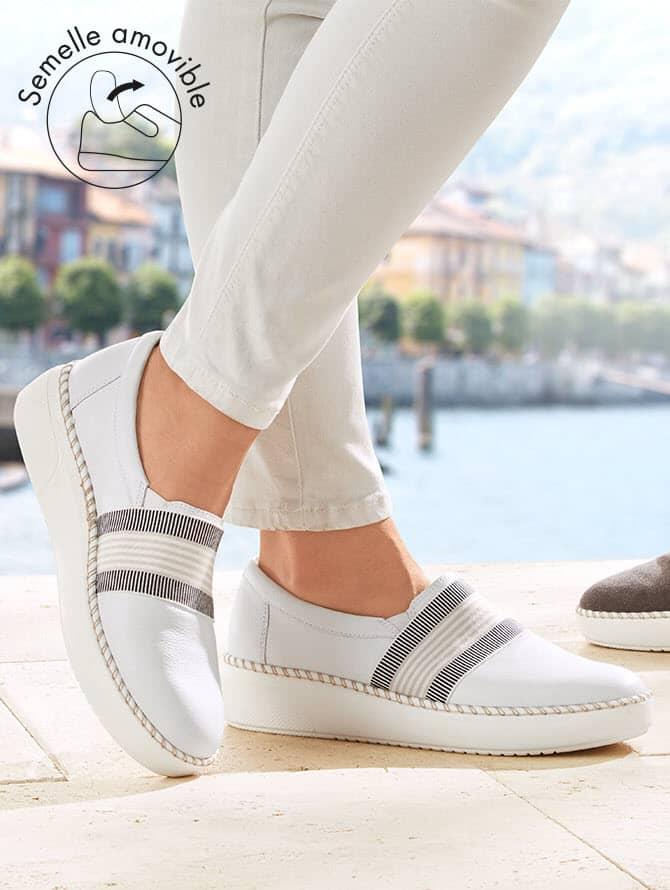 Chaussures pour semelles séparées