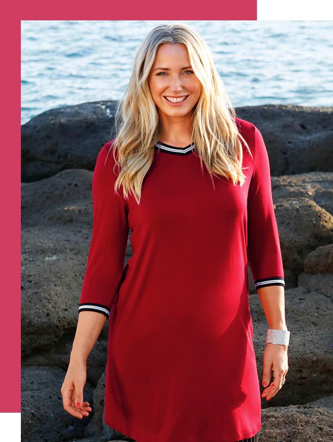 MIAMODA Große Größen Trendfarbe Rot