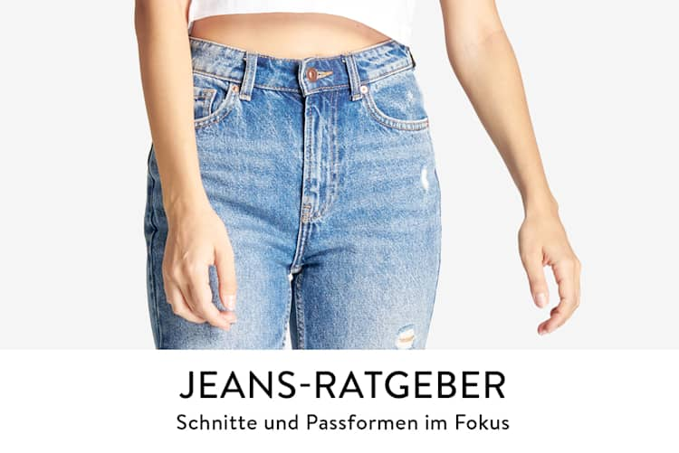 Jeans Ratgeber, der passende Jeans für jeden Anlass und Figurtyp aufzeigt