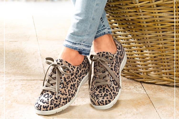 Schuhe in Animal-Print