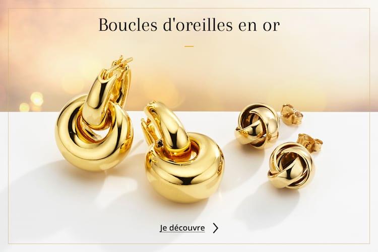 Boucles oreilles or
