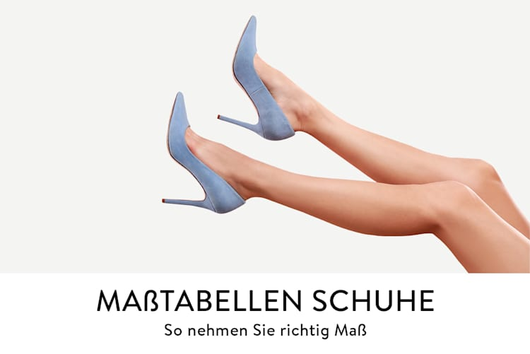 Maßtabelle für Schuhe damit man die richtige Maße nehmen kann