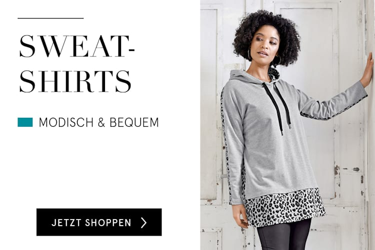 Sweatshirts für Damen online kaufen bei HAPPYsize