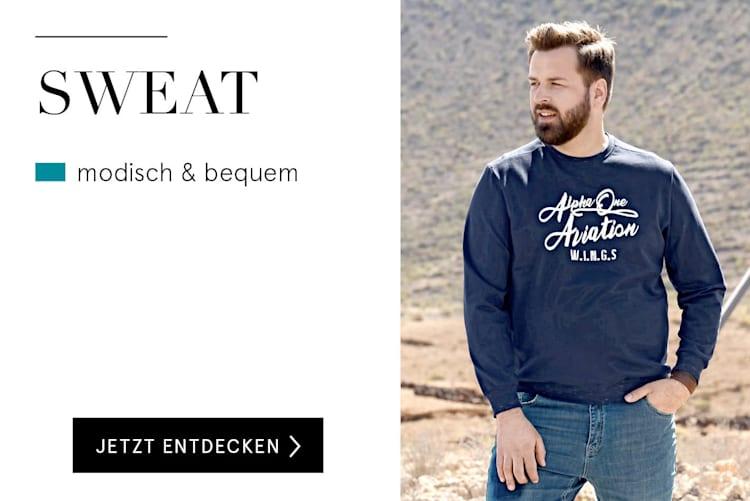 Sweat für Herren online kaufen bei HAPPYsize
