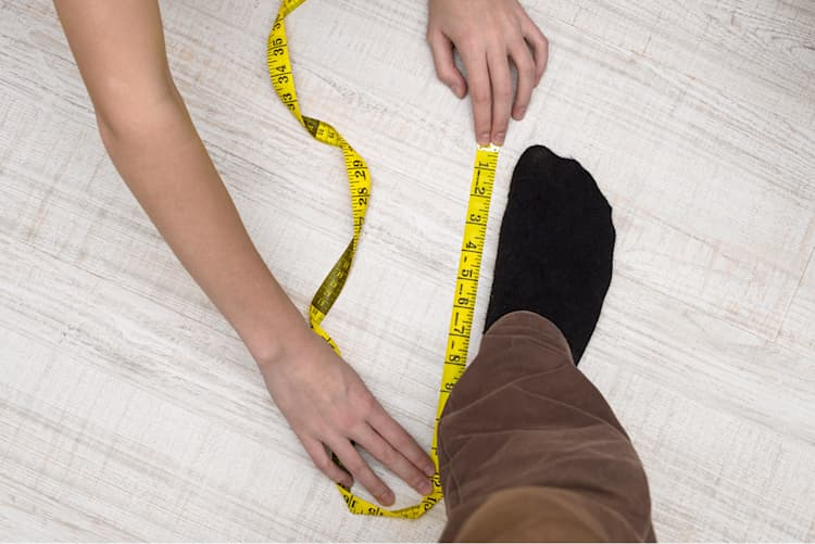 Schuhgröße messen