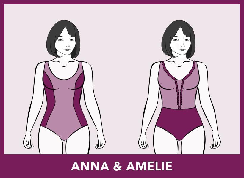 Badmode-pasvormen - Anna & Amelie