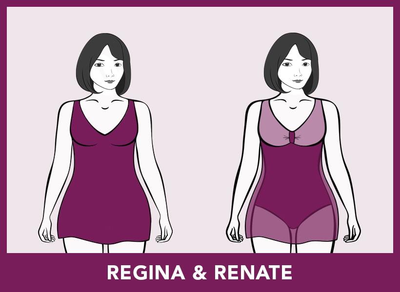 Badmode-pasvormen - Regina & Renate