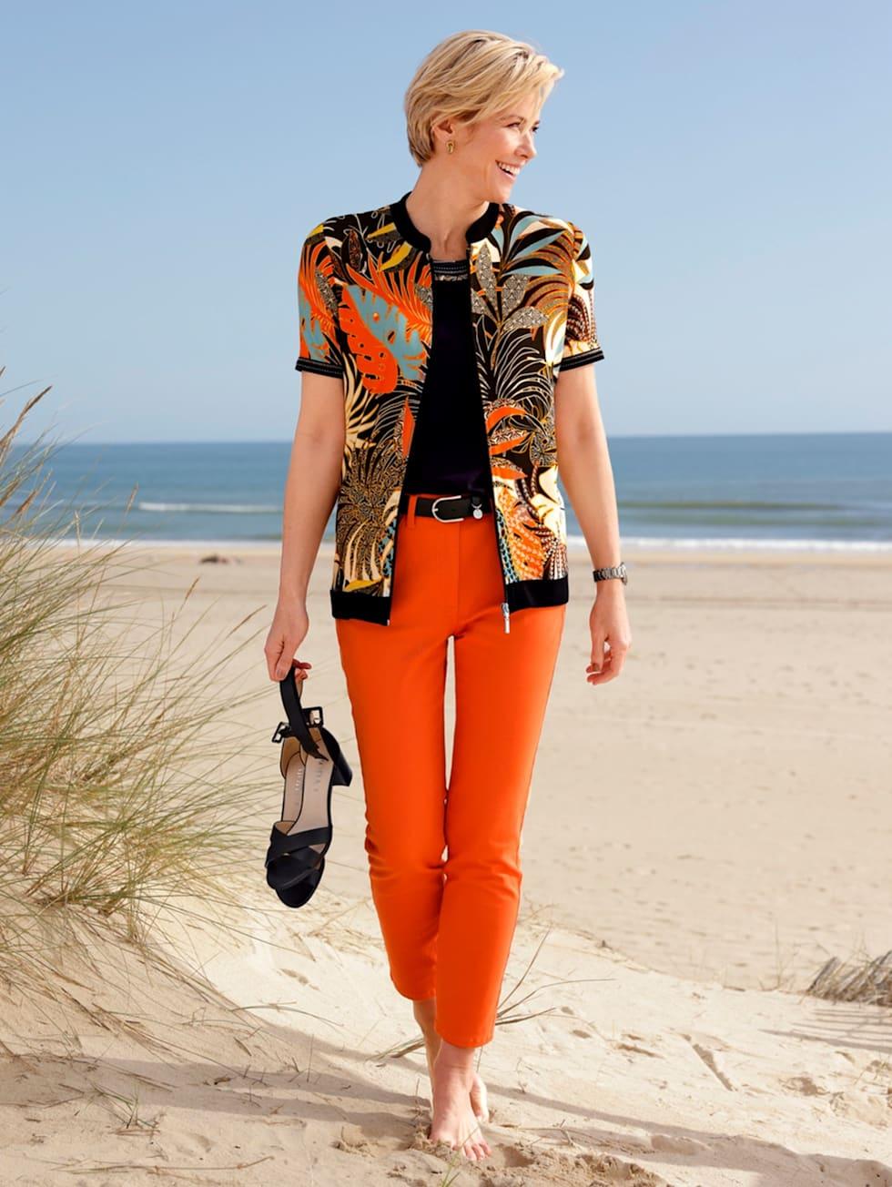 On-trend orange with bold black
