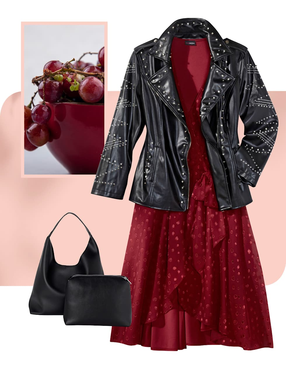 MIAMODA Große Größen Kampagne strahlende Farben - Outfit in der Farbe rot