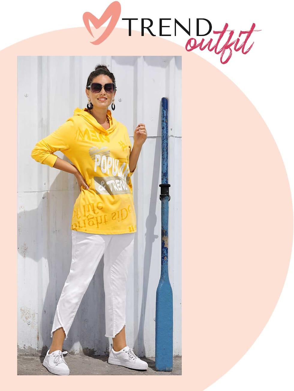 MIAMODA  Große Größen Trend Outfits von Francesca - gelbes Shirt