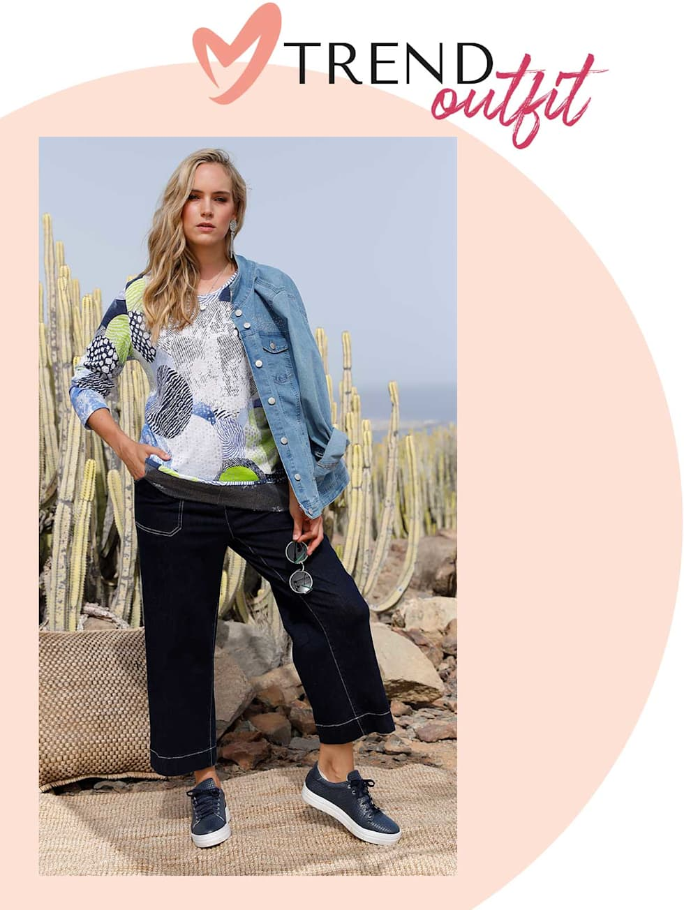 MIAMODA  Große Größen Trend Outfits von Francesca - Feinstrickshirt