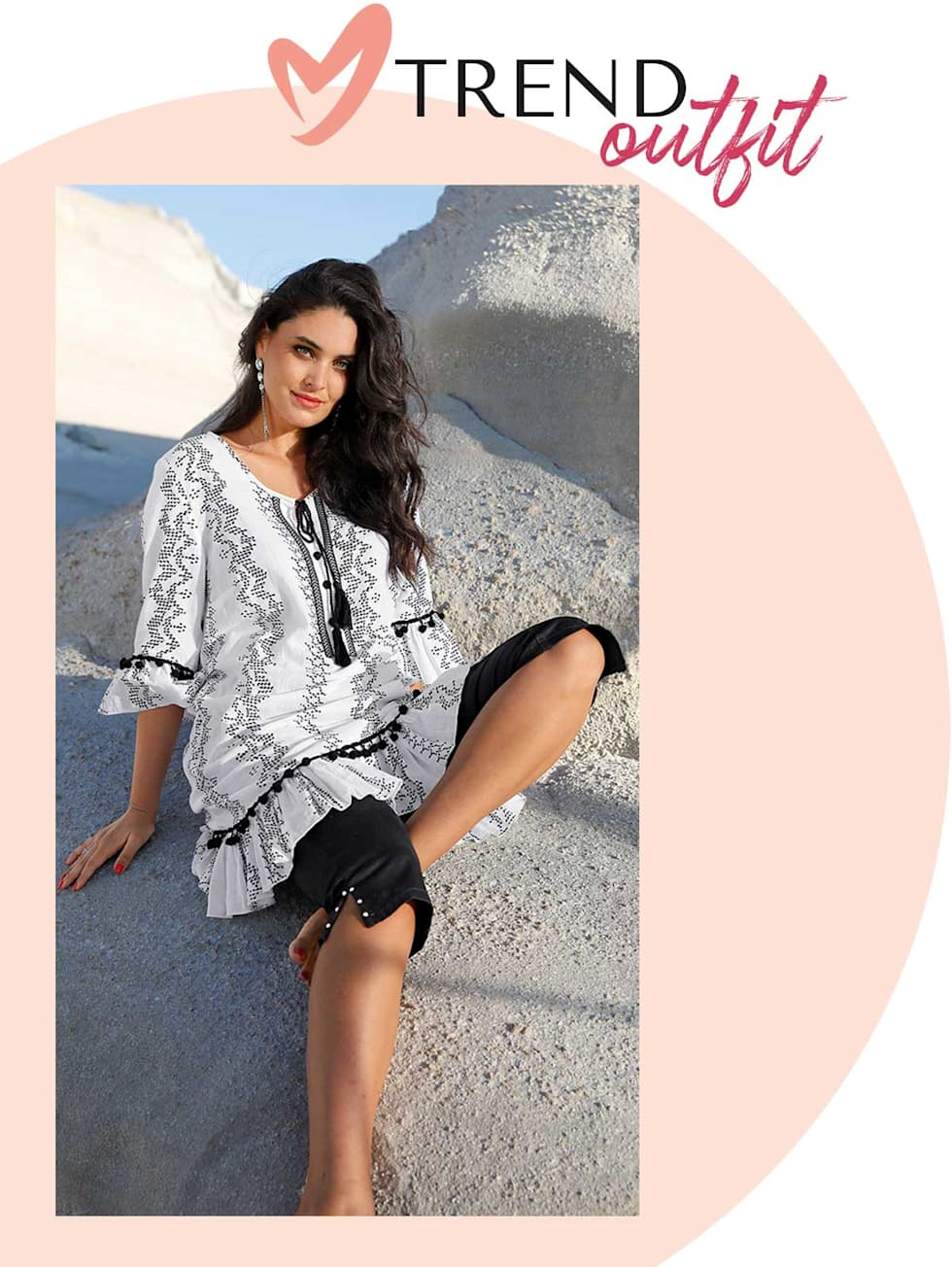MIAMODA  Große Größen Trend Outfits von Francesca - Tunikakleid