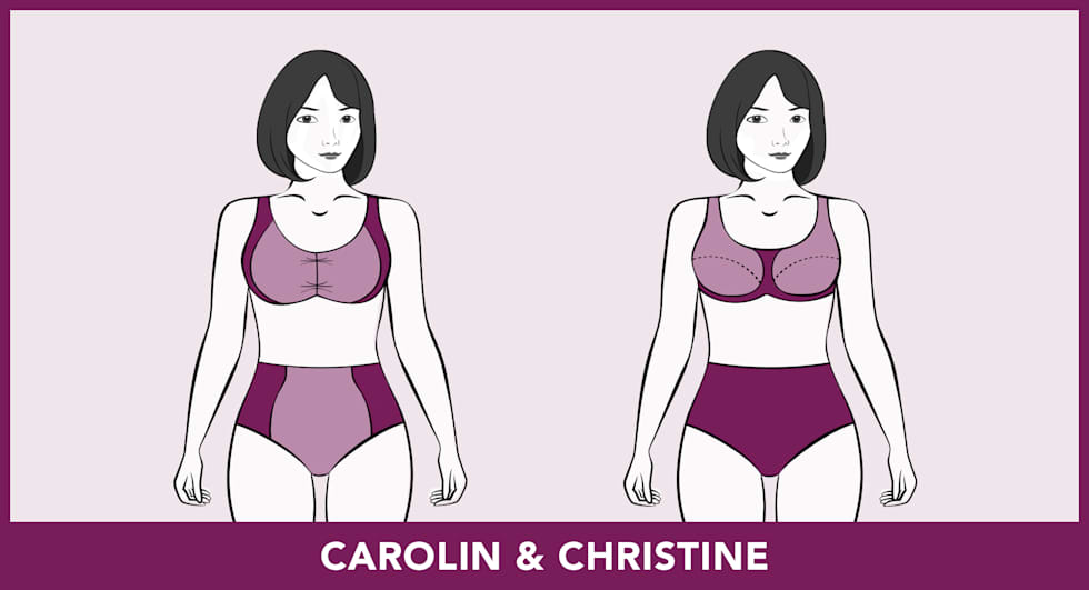 Badmode-pasvormen - Carolin & Christine