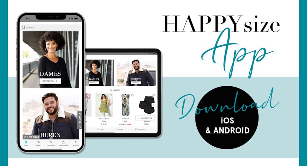 HAPPYsize App - download nu & laat je inspireren