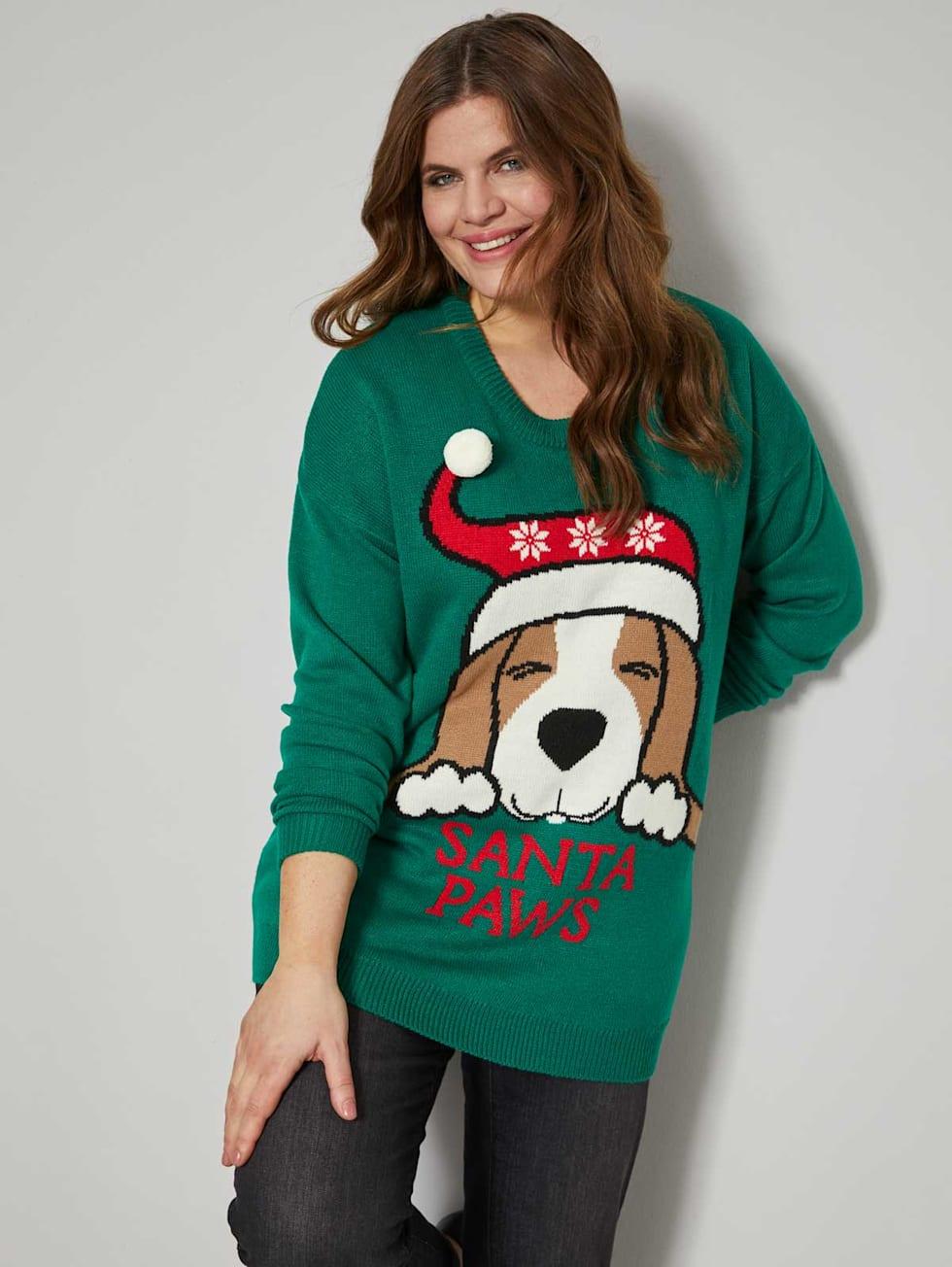MIAMODA Große Größen Weihnachtspullover