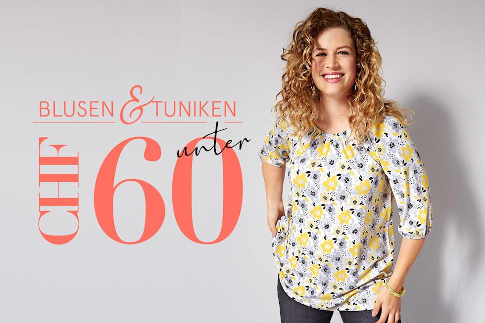Blusen und Tuniken unter 60 CHF